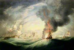 Loss of HMS 'Ramillies', September 1782: Blowing  Up the Wreck