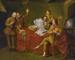 Gustavus Hamilton (1710–1746), 2nd Viscount Boyne, and Friends in a Ship's Cabin