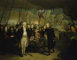 Duncan Receiving the Surrender of de Winter at the Battle of Camperdown, 11 October 1797