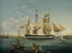 HMS 'Duncan' at Mahon