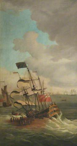The Wreck of HMS 'Gloucester' off Yarmouth, 6 May 1682