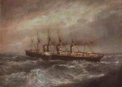 The Steamship 'Great Eastern' Laying the First Successful Atlantic Cable