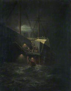 A Buoy Caught in the Paddle of the Steamship 'Great Eastern'
