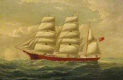The Barque 'J. H. Marsters' in Full Sail
