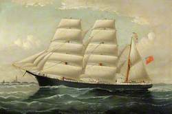 The 'Clipper Lennie' of Liverpool in Full Sail