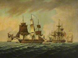 Capture of the USS 'President', 15 January 1815