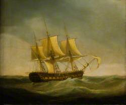 The East Indiaman 'Saint Vincent' Saving the Crew of the East Indiaman 'Ganges', 29 May 1807