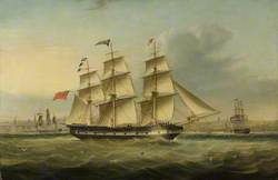 The Ship 'Sir Walter Scott' Arriving in New York, 1832