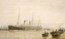 The 'Teutonic' Leaving Liverpool