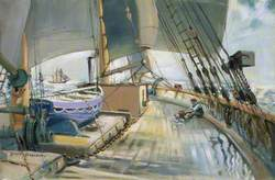 A Deck Scene on the Barquentine 'Waterwitch'