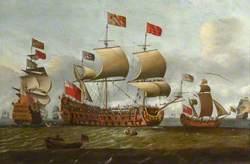 HMS 'Britannia' in Two Positions