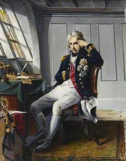 Viscount Horatio Nelson (1758–1805), before the Battle of Trafalgar, 21 October 1805