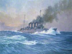 HMS 'Southampton' on the Morning of the Battle of Jutland, 31 May 1916