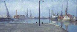 Docks at Goole, Early Morning, 1971