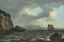 Paddle Steamer 'Dumbarton Castle' in the Clyde off Dumbarton Rock