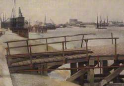 Study for 'A Jetty at Greenwich'