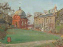 View of the Altazimuth Building and Library at the Royal Observatory, Greenwich