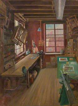 Interior of Percy Laws' Workshop