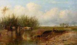 Landscape with a Boy and Cattle
