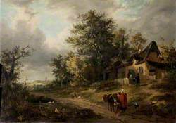 Landscape with Cottages and Tinker