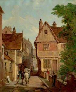 Old Houses, St Peter's Gate, Nottingham, 1842