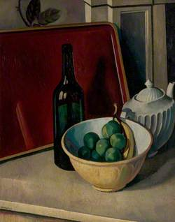 Still Life with Yellow Bowl and Fruit