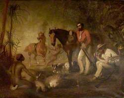 After the Lion Hunt (W. F. Webb and Captain W. Codrington, South Africa)