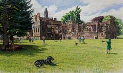 Rufford Abbey, Nottinghamshire, from the Lawns