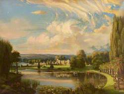 South Front and Lake of Newstead Abbey, Nottinghamshire