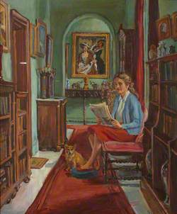 The Artist's Daughter with Her Dog at Thoresby Hall
