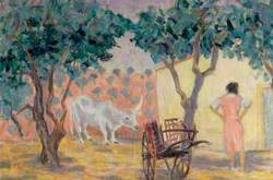 Spanish Ox and Cart