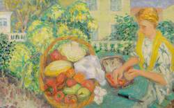 Girl in a Riviera Garden