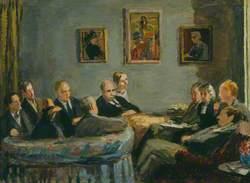 The Memoir Club (Duncan Grant; Leonard Woolf; Vanessa Bell; Clive Bell; David Garnett; Baron Keynes; Lydia Lopokova; Sir Desmond MacCarthy; Mary MacCarthy; Quentin Bell; E. M. Forster)