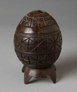 Carved Wooden Egg