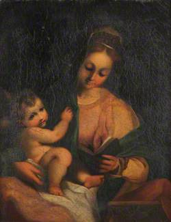 Madonna Reading and the Christ Child