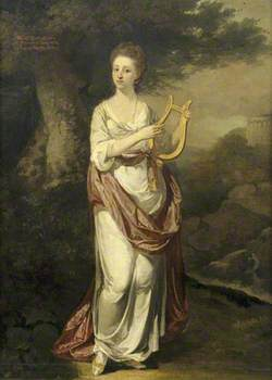 Mary Elton (b.1749), Mrs Oldfield Bowles, with a Lyre