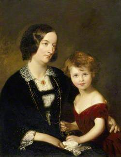 Rhoda Susan Willis (1809–1873), Lady Elton, and Her Daughter Mary Agnes Elton (1844–1926), Later Lady Elton