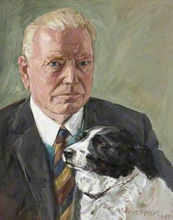 Philip Yorke III (1905–1978), with His Late Dog 'Trixie'