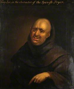 Reputedly Anthony Leigh (d.1692), as Dominic in 'The Spanish Friar' by John Dryden (A Satirical Self Portrait as a Friar)