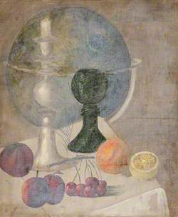 Still Life of Fruit with a Globe