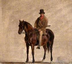 Gamekeeper on a Chestnut Horse