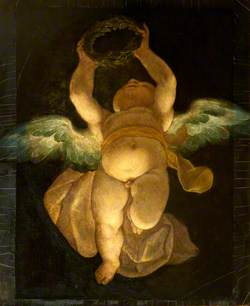 A Cupid Carrying a Laurel Wreath