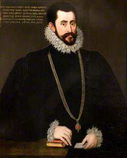Sir Francis Walsingham (c.1530–1590), MP, Chancellor of the Order of the Garter (1578–1588) or Sir John Wolley (d.1596), MP, Chancellor of the Order of the Garter (1589–1596)