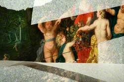 Silenus, Flora, Nymphs and Fauns Revelling in a Wooded River Landscape