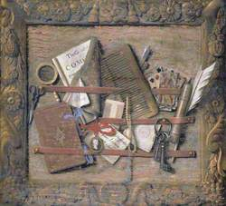 Trompe l'oeil of a Framed Necessary-Board