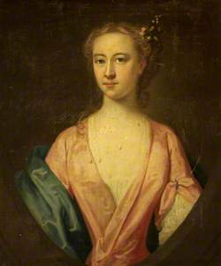 Portrait of a Lady with Flowers in Her Hair