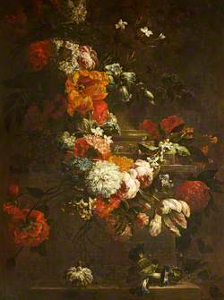 Summer Flowers on a Plinth