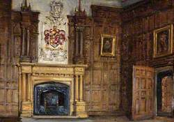 The Dining Room Fireplace, Montacute House, Somerset