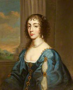 Portrait of a Lady in Blue, Modelled on Queen Henrietta Maria