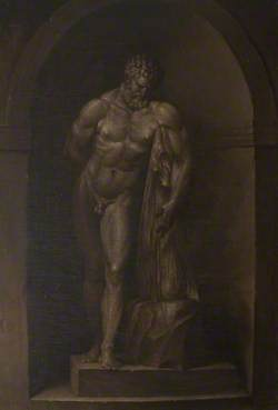 The Farnese Hercules in an Interior
